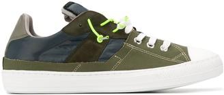 Maison Margiela Paneled Lace-Up Sneakers