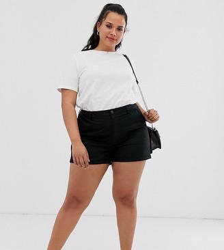 ASOS DESIGN Curve chino shorts in black