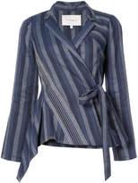 Carolina Herrera diagonal stripe blazer