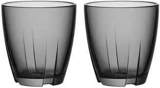 Kosta Boda Set of 2 Bruk Short Tumblers - Gray