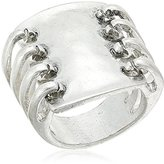 "Robert Lee Morris Mosaic"" Sculptural Rectangle Multi Row Ring, Size 7.5"