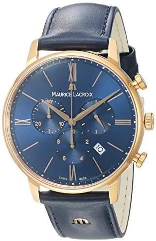 Maurice Lacroix Men's 'Eliros' Quartz Gold and Leather Casual Watch