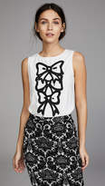 Moschino Bow Print Blouse