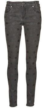 American Retro HELENA women's Skinny Jeans in Grey
