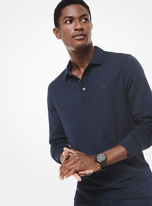 Michael Kors Cotton Long-Sleeve Polo Shirt