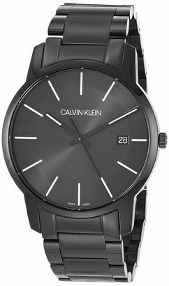 Calvin Klein City Men's Black PVD Bracelet with Black Dial Watch (Model: K2G2G4B1)