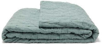 Once Milano - Dot-stitched Linen Quilt - Light Green