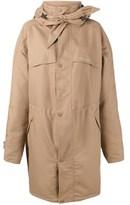 Balenciaga Women's Beige Polyester Coat.