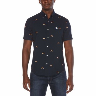 Original Penguin Big & Tall Pride Rainbow Print Oxford Button-Down Shirt