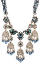Marchesa Goldtone White Metal Beaded Collar Necklace