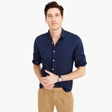J.Crew Albiate 1830 for Wallace & Barnes shirt in lightweight indigo-dyed cotton