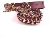 Liu Jo Women's Burgundy Leather Belt.