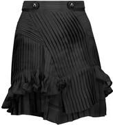 Isabel Marant Shauna ruffled plissé silk-chiffon mini skirt