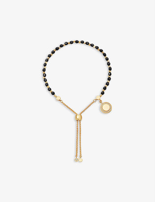 Astley Clarke Cosmos Kula 18ct yellow-gold plated vermeil sterling silver and black onyx bracelet