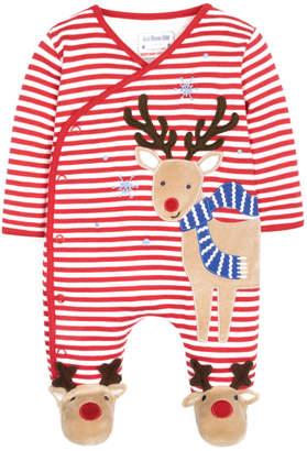 Jo-Jo Jojo Maman Bebe Reindeer Applique Sleepsuit & Hat Set