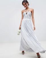 Asos Design DESIGN ruched cross front maxi dress