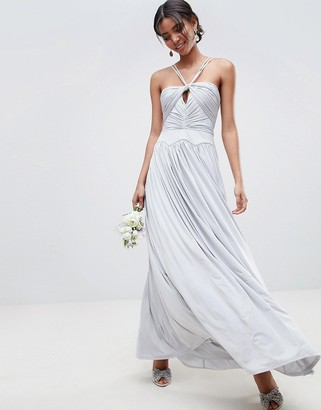 ASOS DESIGN ruched cross front maxi dress