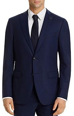 John Varvatos Bleecker Micro-Check Slim Fit Suit Jacket