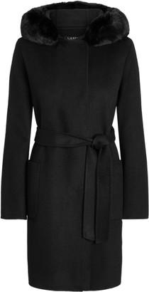 Ralph Lauren Faux Fur-Trim Wool-Blend Coat