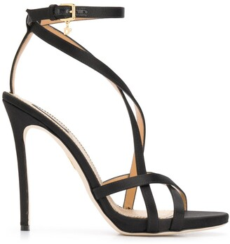 DSQUARED2 Multi-Strap Satin Stiletto Sandals
