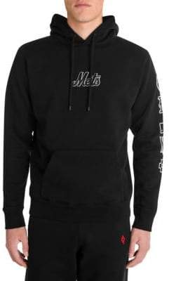 Marcelo Burlon County of Milan Men's NY Mets Hoodie - Black White - Size Large