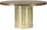 Jonathan Adler Walnut Veneer And Brushed Brass Nixon Dining Table