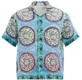 J.W.Anderson Mystic Paisley Linen-canvas Shirt - Mens - Blue Multi