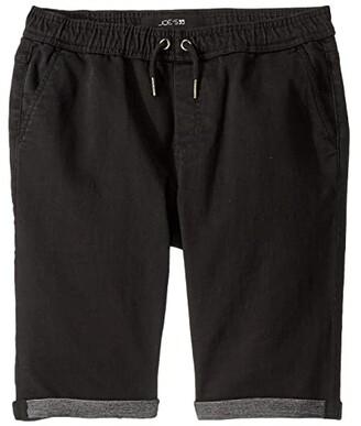 Joe's Jeans Jogger Pull-On Knit Denim Shorts (Big Kids) (Black) Boy's Shorts