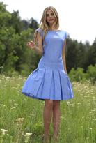Shabby Apple Sade Fit & Flare Dress Blue