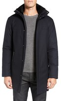 Mackage Men's Damari Wool Blend Coat With Genuine Shearling Collar