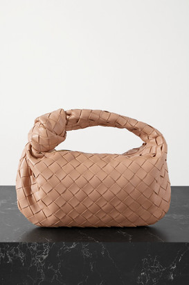 Bottega Veneta Jodie Mini Knotted Intrecciato Leather Tote - Tan