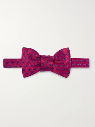 Charvet Pre-Tied Silk-Jacquard Bow Tie
