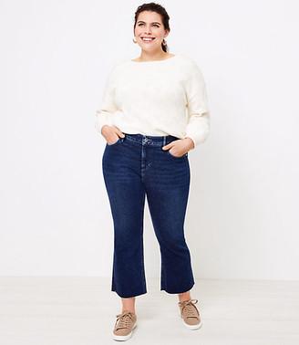 LOFT Plus Flare Crop Jeans in Bright Authentic Indigo