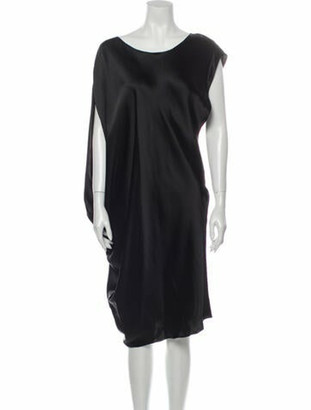 Lanvin Bateau Neckline Knee-Length Dress Black