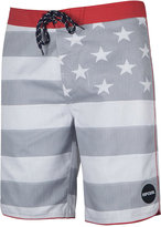 Rip Curl Men's Freestate Engineered Stripe Star-Print Swim Trunks