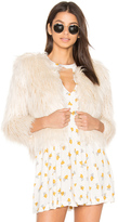 Mother The Boxy Faux Fur Jacket