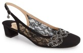 J. Renee Women's Faleece Crystal Embellished Slingback Pump