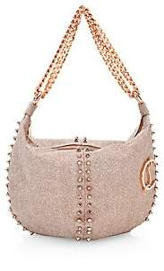 Christian Louboutin Women's Elixira Spiked Glitter Hobo Bag