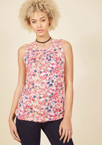 ModCloth Charmed, Indeed Tank Top in Pink Floral in 4X