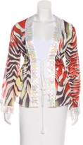 Just Cavalli Printed Embellished Cover-Up