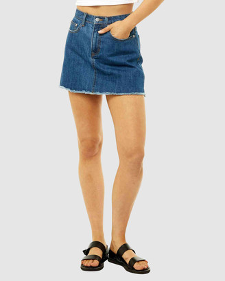 Rusty Women's Denim skirts - Celeste High Rise Denim Skirt - Size One Size, 6 at The Iconic