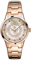 88 Rue du Rhone 87WA153202 Women's Rive Smoky Quartz and Diamond Filigree Dial Bracelet Strap Watch, Rose Gold/Mother of Pearl