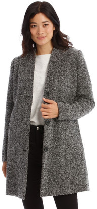 Regatta Dart Neck Boucle Coat-Grey Speckle