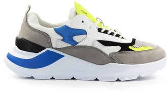 D.A.T.E Fuga Netki Grey Fluo Yellow Sneaker