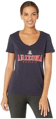 Champion College Arizona Wildcats University V-Neck Tee (Navy) Women's T Shirt