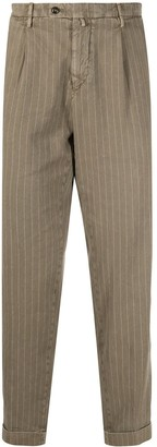 Briglia 1949 Striped-Print Slim-Fit Chinos