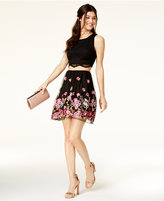 City Studios Juniors' 2-Pc. Lace Embroidered Dress, A Macy's Exclusive