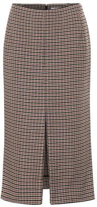 Victoria Beckham Checked wool skirt