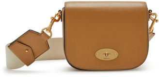 Mulberry Small Darley Satchel Sable Silky Calf with Webbing Strap