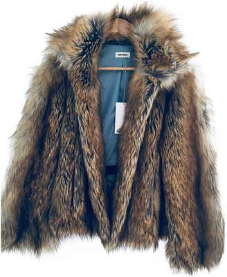 Zadig & Voltaire Fall Winter 2018 Brown Faux fur Coats